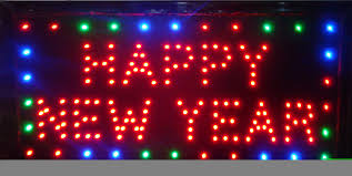 led new years 2018 hot selling customerized animated led happy new year sign