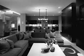 gray black and white living room home design ideas