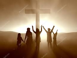 kids at the cross of jesus christ u2014 stock photo balazs 3412342
