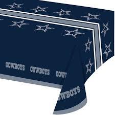 Patio Party Vinyl Tablecloth by Dallas Cowboys Table Cover Walmart Com