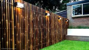 bamboo and wood picket fence panels all modern home designs