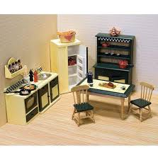 dollhouse kitchen furniture 7 pc doug kitchen set dollhouse furniture scale 1 12 ebay