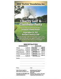 first annual charity golf tournament u0026 clambake party rutland