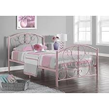 Pink Bed Frames Monarch Specialties White Metal Size Bed Frame