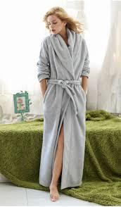 Full Length Bathrobe Women And Men Couple Soft Fleece Full Length Ultra Long Plus Size