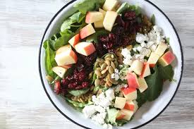 thanksgiving salad autumn chopped kale and spinach salad thanksgiving com