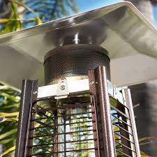 Stainless Steel Patio Heaters by 42 000btu Deluxe Outdoor Pyramid Propane Glass Tube Dancing Flames