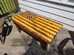 Pallet American Flag American Flag Pallet Coffee Table 10 Steps With Pictures