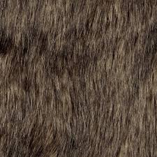 Faux by Shannon Faux Fur Wolf Brown Black Discount Designer Fabric