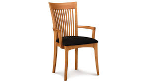 Wooden Chairs For Dining Room Mcbride Arm Chair Furnitureclassic Wood Arm Chairs With Stripes
