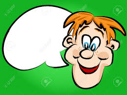 speech bubble hand drawn funny hand drawn face red head cartoon man or guy with white