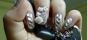 how to do silver nail art design step by step tutorial