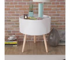 serving tray side table vidaxl side table with serving tray round 15 6 x17 5 white vidaxl com