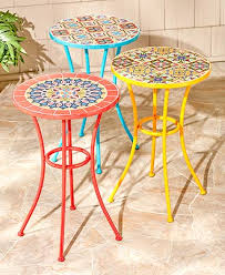 Mosaic Accent Table Style Mosaic Accent Tables The Lakeside Collection