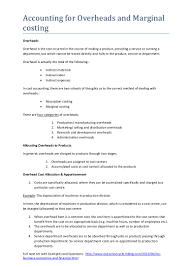 Hris Resume Sample by 4 Accounting For Overheads And Marginal Costing