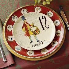 12 days of salad dessert plates set of 12 williams sonoma