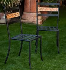 Green Bistro Chairs 7 Iron Patio Dining Chairs For Your Backyard Cute Furniture