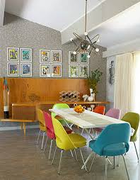 Love The Multicoloured Retro Dining Chairs GLAMCLECTIC DINING - Retro dining room