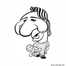 coloriage dessin lionel messi drole humour dessin