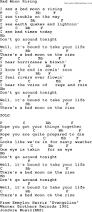U Got It Bad Lyrics Emmylou Harris Song Bad Moon Rising Lyrics And Chords