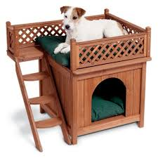 Dog Bunk Beds Furniture by Amazon Com Merry Pet Mps002 Wood Room With A View Pet House