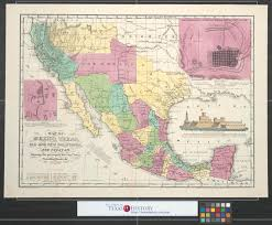 New Mexico Cities Map Map Of Mexico Texas Old And New California And Yucatan Showing
