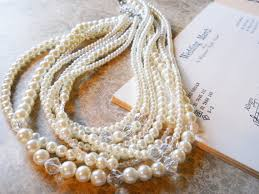 chunky pearl crystal necklace images Chunky pearl necklace ivory layered pearl crystal wedding necklace jpg
