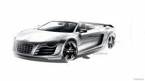 Audi R8 Gt Spyder - 2012 audi r8 gt spyder design sketch hd wallpaper 28