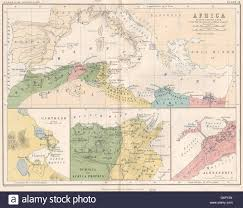 Ancient Africa Map by A 19th Century Map Of Africa Propria And Numidia Stock Photo