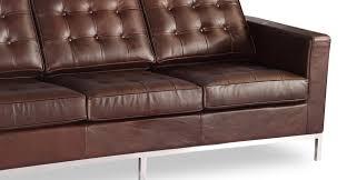 florence sofa vintage brown premium distressed leather kardiel