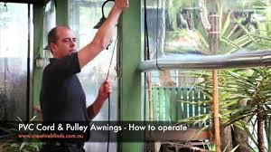 How To Make Roll Up Curtains Creative Blinds U0026 Awnings Pvc Cord U0026 Pulley Awnings How To Operate