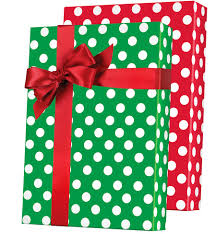 reversible christmas wrapping paper christmas polka dot reversible gift wrap innisbrook wrapping paper