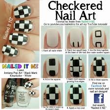 nailed it nz checkered nail art tutorial bps clothing review