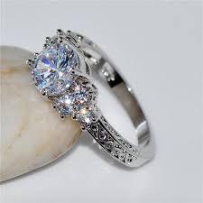 saphire rings white sapphire ring daze