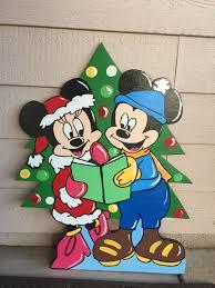 mickey and minnie wood cutout yard mickey mouse