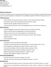 Dance Resume Templates Dancer Resume Templates Download Free U0026 Premium Templates Forms