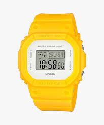 Jam Tangan Casio Karet jual jam tangan wanita digital tali karet warna kuning casio baby g