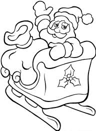 printable coloring pages christmas santa sleigh
