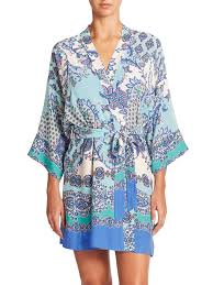 In Bloom By Jonquil In Bloom Portugal Wrap Robe In Blue Lyst