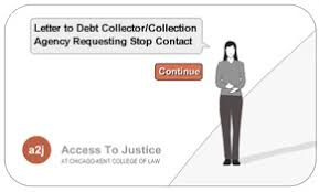 interactive form collection agency stop contact letter