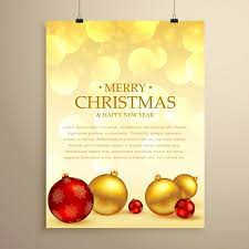 golden poster merry vector free
