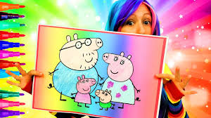 coloring peppa pig giant coloring page crayola crayons coloring