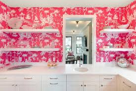 pink kitchen wallpaper design ideas