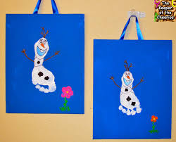 frozen olaf footprint craft disney crafts u0026 party ideas