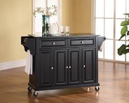 kitchen island table on wheels black granite counter top of kitchen island with black wooden base