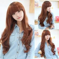 long curly hairstyle korean
