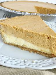 layer pumpkin cheesecake pie together as family