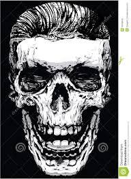 skull print t shirt graphic vector design stock vector