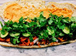 sriracha mayo nutrition vegan vietnamese bahn mi sandwich with seared sriracha tofu