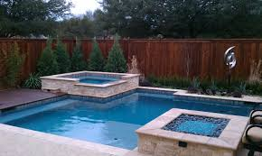 contemporary pool with nice strait lines travertine coping